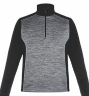 Custom Conquer Mens Performance Quarter-Zip Top by Ash City