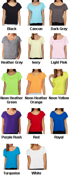 Next Level Ladies Terry Dolman Tee - All Colors