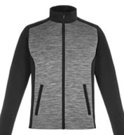 Shuffle Mens Performance Melange Interlock Jacket