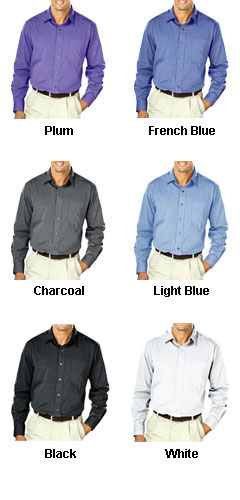 Mens Heathered Crossweave Dress Shirt - All Colors