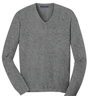 Mens V-Neck Fine Gauge Sweater