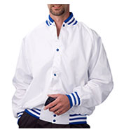 Custom Pro-Satin Baseball Jacket - Flannel Lined Mens