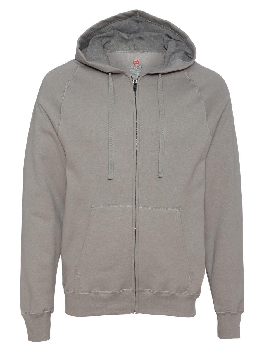 Hanes Nano Full-Zip Hooded Sweatshirt