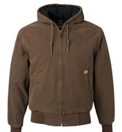 Mens Tall Dri Duck Canvas Hooded Jacket