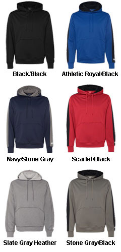 Champion 5.4 oz. Performance Colorblock Pullover Hooded Fleece - All Colors