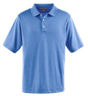 Custom Mens Pima-Tech� Jet Pique Heathered Polo