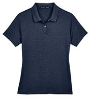 Custom Ladies Pima-Tech™ Jet Pique Heathered Polo