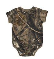 Custom Officially Licensed REALTREE® Infant Camouflage Creeper by Code V