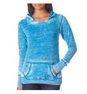 Custom J. America Ladies Vintage Zen Hooded Fleece