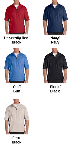 Adidas Golf Mens ClimaLite® Colorblock Half-Zip Wind Shirt - All Colors