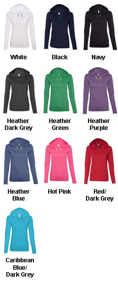 Anvil Ladies Lightweight Long Sleeve Hooded T-Shirt - All Colors