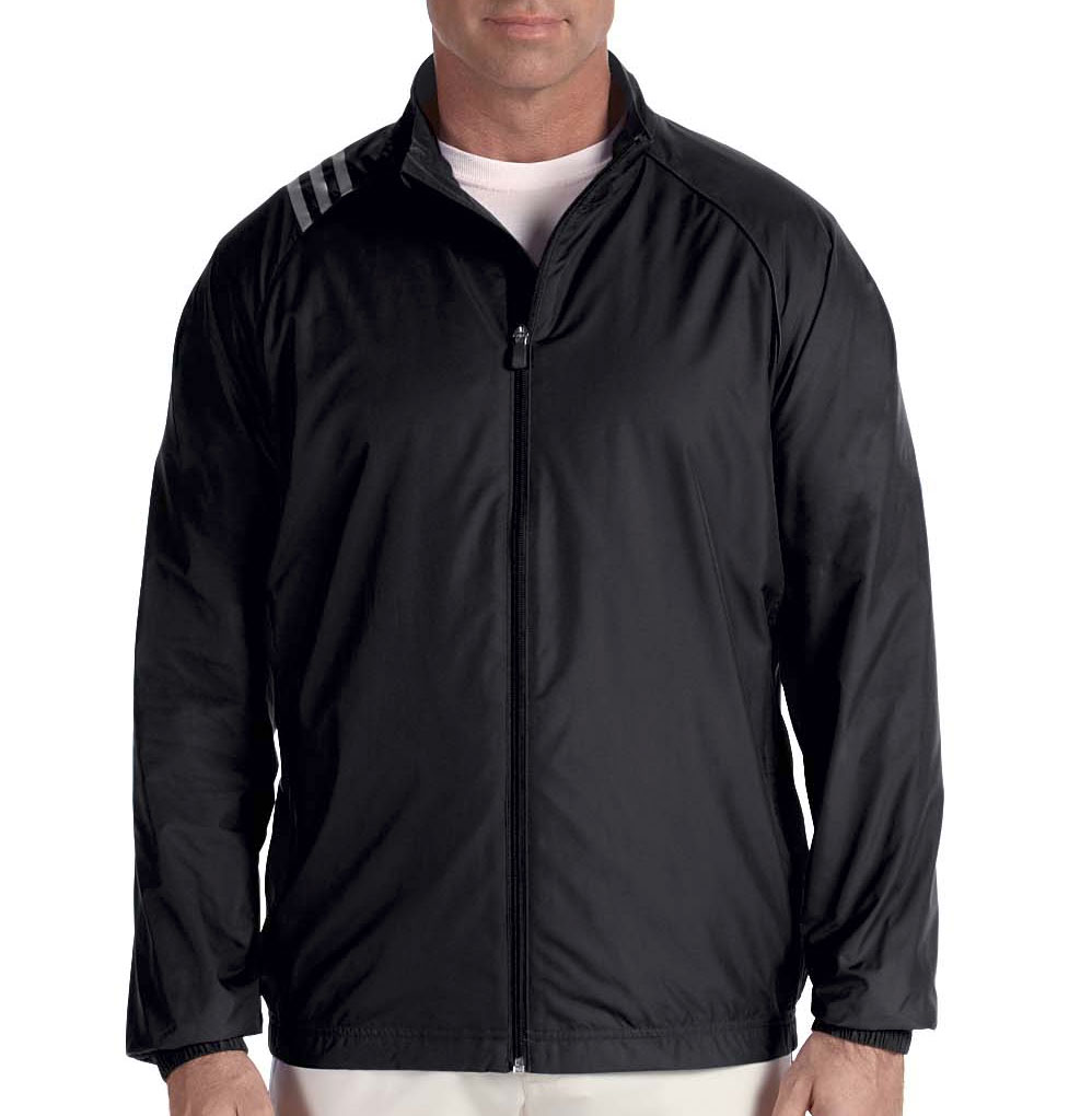Adidas Golf Mens 3-Stripes Full-Zip Jacket