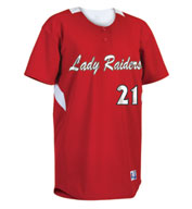 Custom Russell Athletic Womens Performance Two-Button Placket Jersey