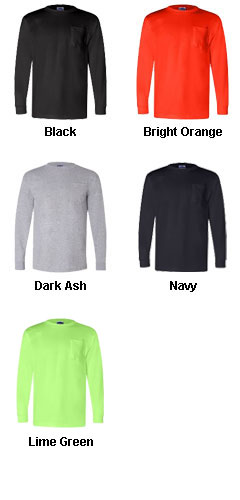 Union Made Long Sleeve Pocket Tee - All Colors