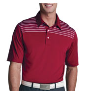 Custom Greg Norman Play Dry® Shoulder Stripe Polo Mens