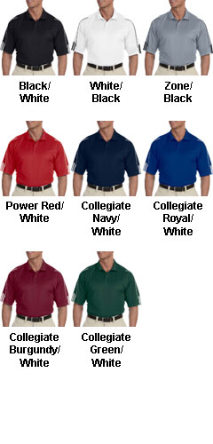 Adidas Golf ClimaLite® Three-Stripe Cuff Polo - All Colors