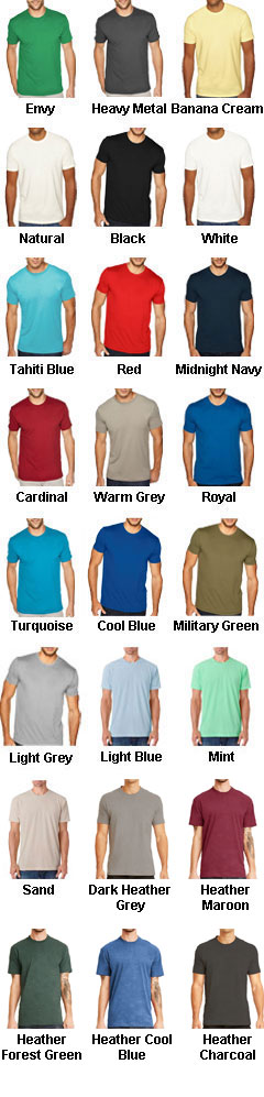 Next Level Mens Sueded Crew - All Colors