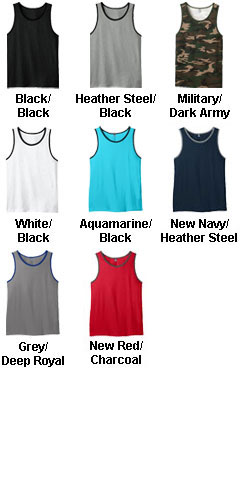 Young Mens Cotton Ringer Tank - All Colors
