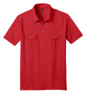 Custom Mens Jersey Double Pocket Polo