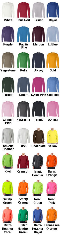 Fruit of the Loom Long Sleeve T-Shirt - All Colors