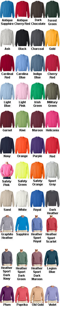 Gildan Heavy Blend Fleece Crew - All Colors
