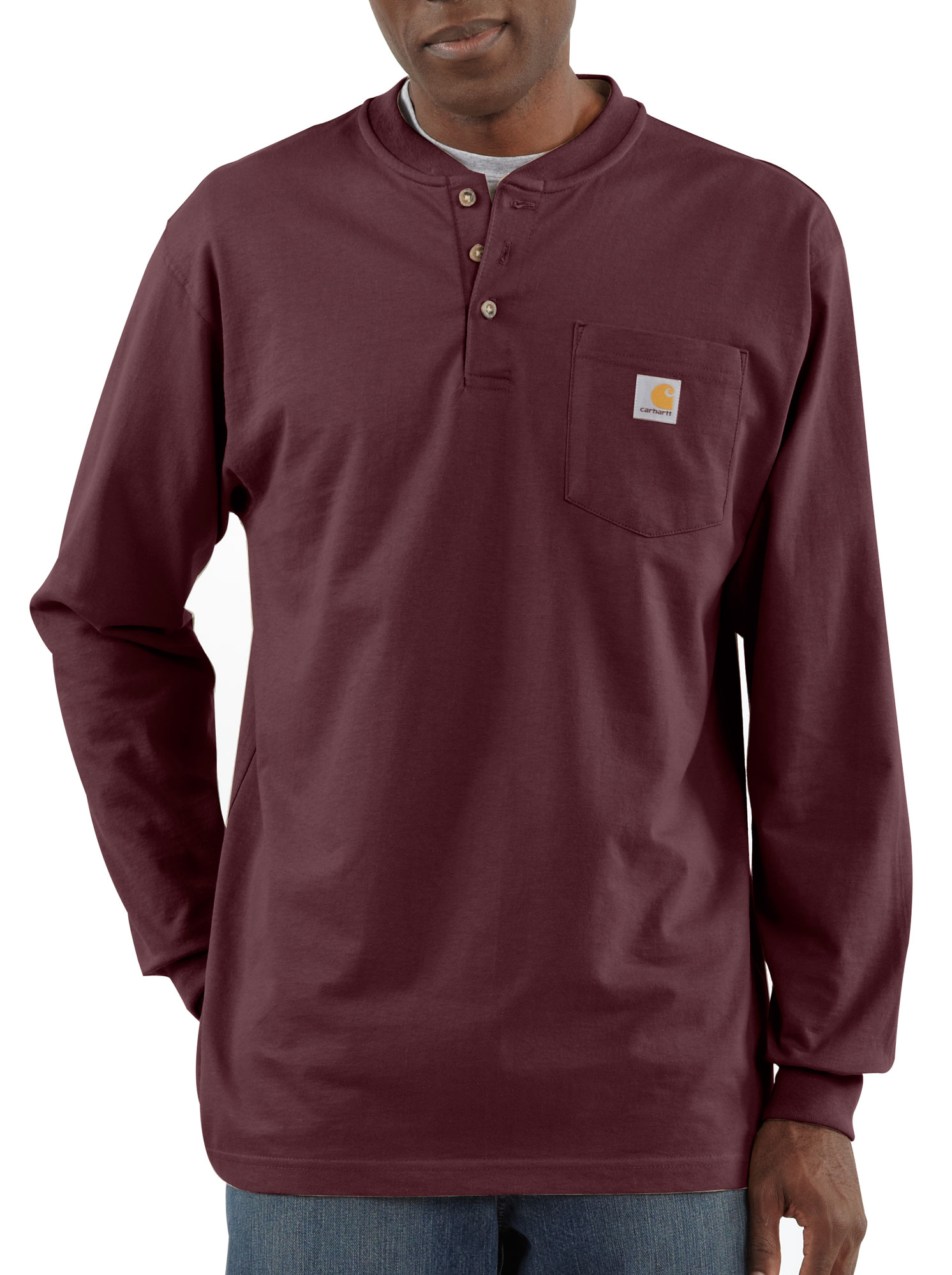 Carhartt Mens Pocket Long-Sleeve Henley
