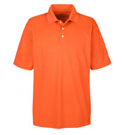 UltraClub Mens Cool and Dry Stain Release Polo