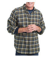 Mens Trout Run Plaid Flannel Shirt