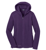 Eddie Bauer® Ladies Hooded Full-Zip Fleece Jacket