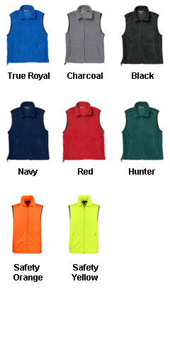 Harriton Fleece Vest - All Colors