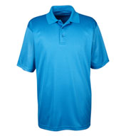 UltraClub Mens Cool and Dry Mini-Check Jacquard Polo