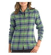 Custom Woolrich Ladies Pemberton Flannel Shirt