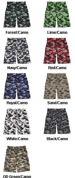 Badger Adult Camo Short - All Colors