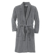 Custom Plush Microfleece Shawl Collar Bathrobe