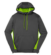 Custom Mens Fleece Colorblock Hooded Pullover Mens