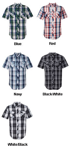 Burnside Young Mens Plaid Short Sleeve Shirt - All Colors