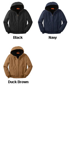 CornerStone® Washed Duck Cloth Hooded Work Jacket - All Colors