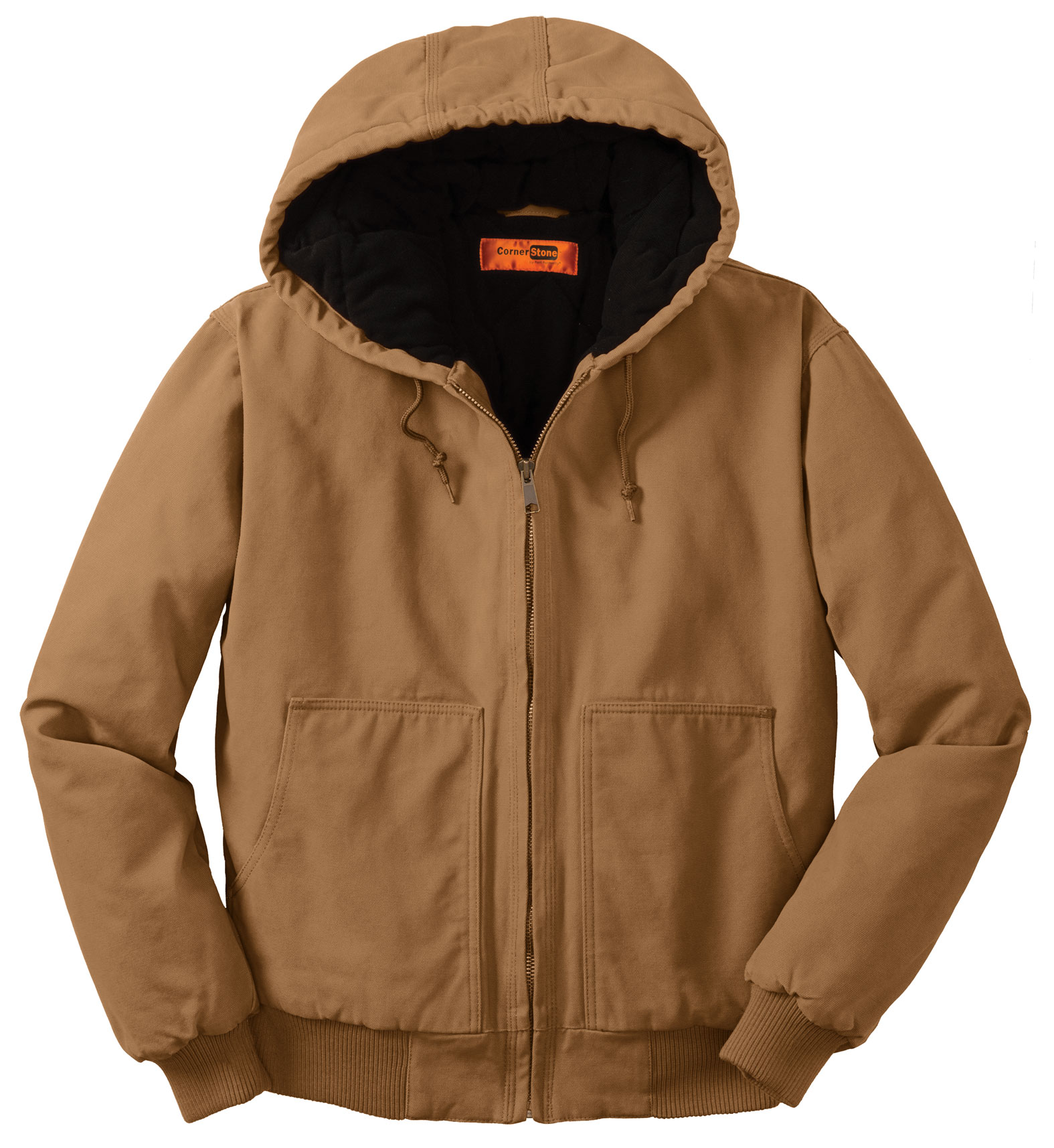 CornerStone�� Washed Duck Cloth Hooded Work Jacket
