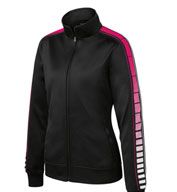 Custom Ladies Dot Sublimation Tricot Track Jacket