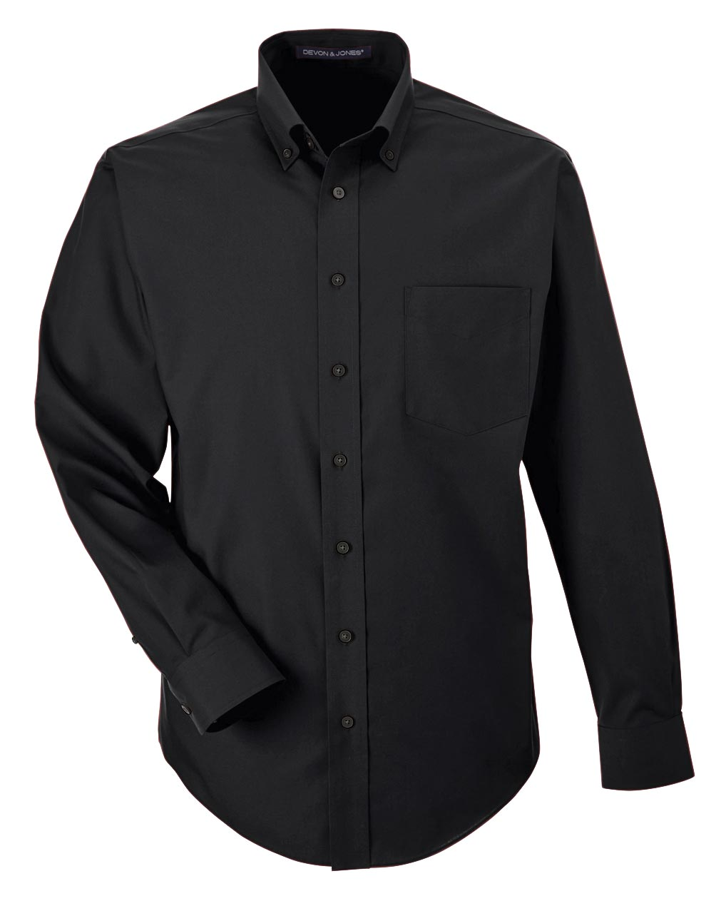 Mens Performance Solid Broadcloth Dress Shirt