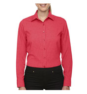 North End Central Ave Ladies Melange Performance Dress Shirt