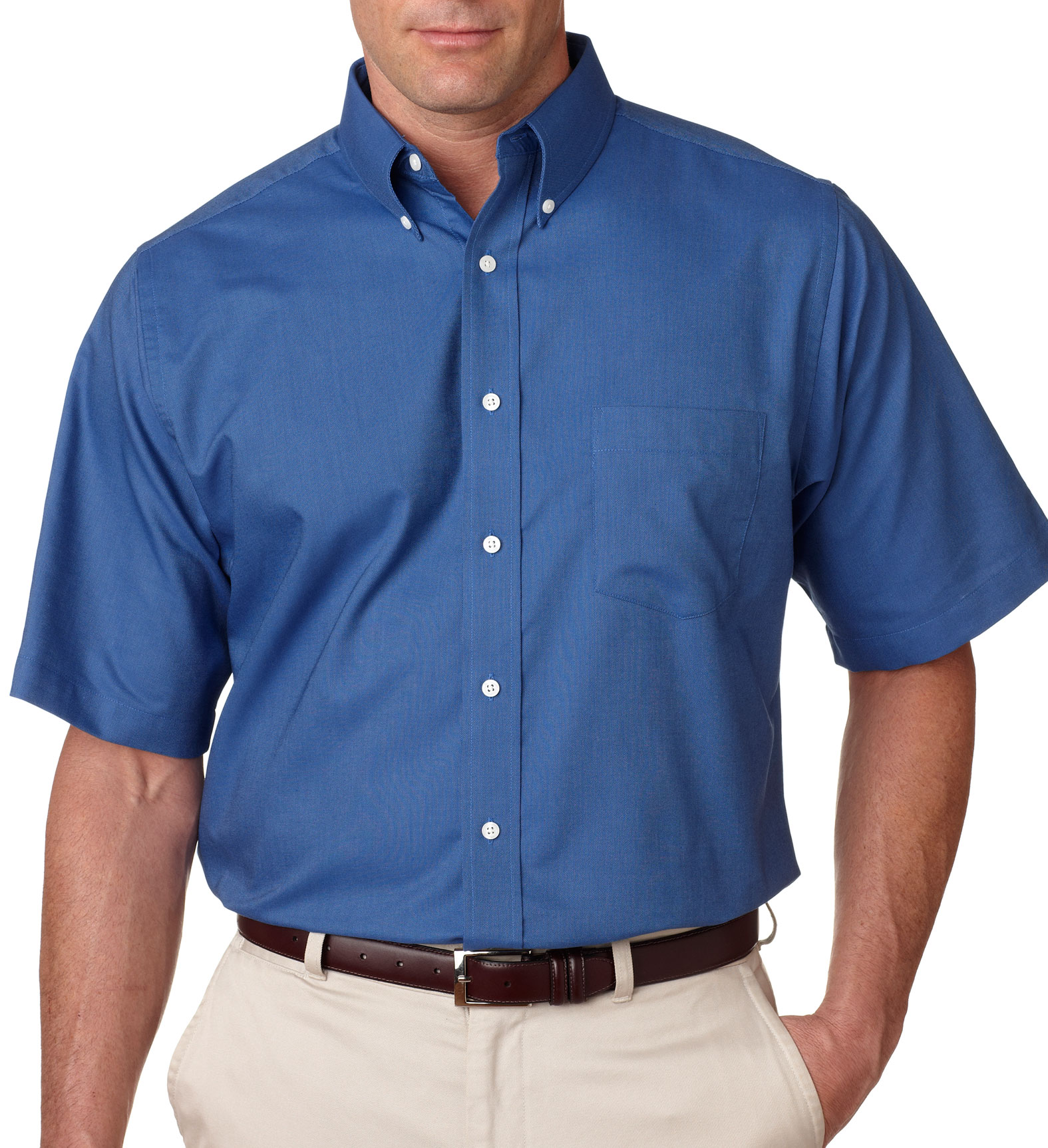 UltraClub Short Sleeve Oxford Dress Shirt
