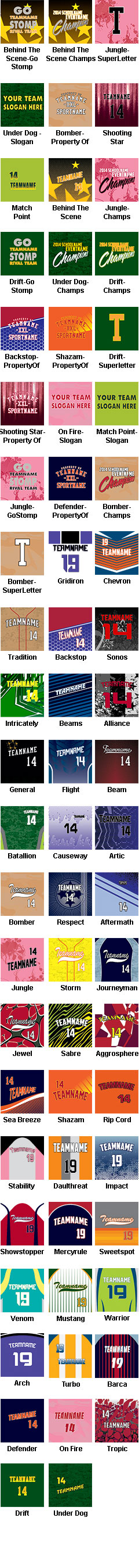 Custom Sublimated Crew Neck Tee - All Patterns