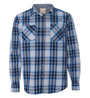 Custom Weatherproof® Mens Vintage Plaid Long Sleeve Shirt