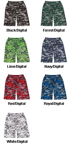 Badger Adult Digital Camo Short - All Colors