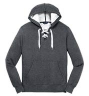 Custom Lace Up Pullover Hooded Sweatshirt Mens