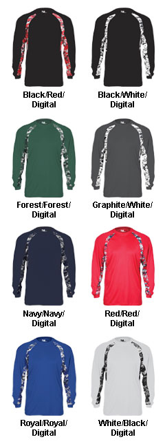Badger Mens Digital Hook Long Sleeve Tee - All Colors