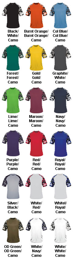 Youth Camo Sport Tee - All Colors