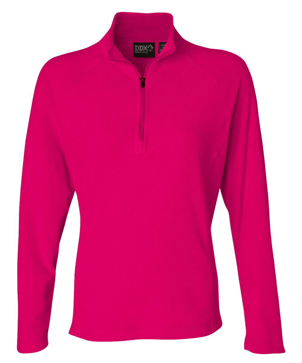 Dri Duck Fusion Ladies Quarter-Zip Nano Fleece Pullover