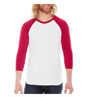 Custom American Apparel 3/4 Sleeve Raglan T-Shirt